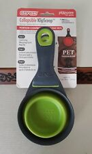 Dexas Collapsible Klip Scoop 1 Cup For Pets, New Green