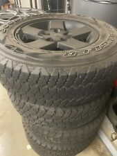 5 x Jeep Wrangler wheels and tyres