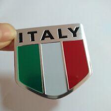 Aluminum alloy Emblem Badge Decal Car Fender Side Logo Sticker Italy Flag