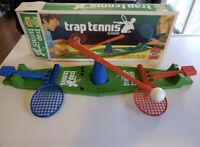 Vintage 1975 Ideal Trap Tennis Game With Original Box Excellent Condition