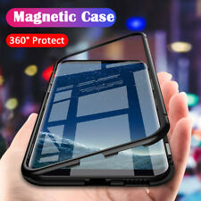 Magnetic Back Tempered Glass Case Cover for Samsung Galaxy S8 S9 Plus Note 8 9