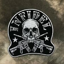 Black & White Infidel Skull with Rifles Patch