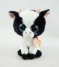 "6"" Ty Beanie Boos Butter Cow Reg 2017 New Glitter Eyes Plush Stuffed Animals Toy"