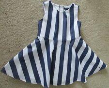 45647cc87aea TOMMY HILFIGER 18 Months Girls Sleeveless Blue White Striped Dress