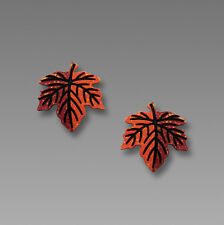 Sienna Sky Autumn MAPLE LEAF EARRINGS Surgical Steel Posts Fall  - Gift Boxed