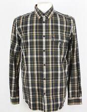 "Wrangler Camisa Manga Larga Marrón/Negro/Blanco De Cuadros Talla L/Collar 17"" 274 y"
