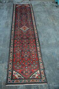 F339 Stunning Handmade Tribal Caucasian Hallway Rug Oriental Runner 2'7 x 10 Ft