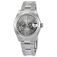 Rolex Datejust Lady 31 Floral Rhodium Dial Stainless Steel Rolex Oyster