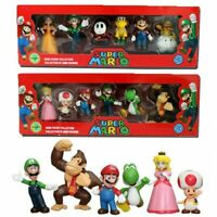6pcs PVC Super Mario Bros.4 Series Game Action Figure Doll Cake Topper Kids Gift