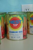 Vintage 1970s Neo-Life NEST Scrambling Eggs Can Full Unopened Survival Storage