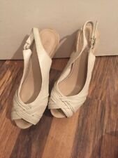 Gorgeous Cream Leather Sling Back Heels Aldo Size 4