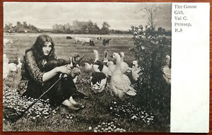 Val C. Prinsep R. A. The Goose Girl. Post Card