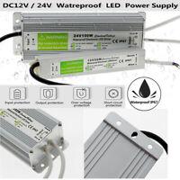 240V DC12V/24V LED Waterproof IP67 LED Driver Power Supply Transformer Strip UK