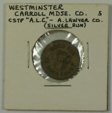 Early 20th Cen. Counterstamp Trade Token Carroll MDSE. CO  Westminster MD S-C-10