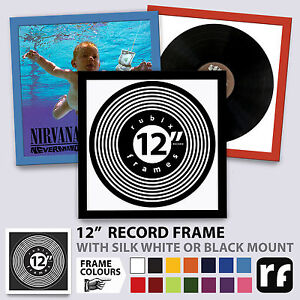 """12"""" Inch Record Frame Wood Black White Colours Collectors Best UK PICTURE FRAMES"""