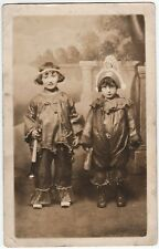SUPER RPPC - Halloween Children in Costumes with Toys Noisemaker Real Photo 1906