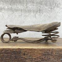 Prewar Leather Saddle Pre War Seat Wood Rim Spring Vintage Bicycle Bike Wonder