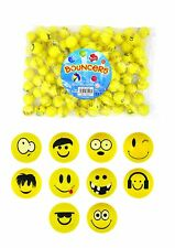 EMOTICONS 10 smiley 35mm bouncy balls Emoji.jet balls.teachers rewards,tombola