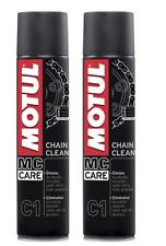 Pulitore Sgrassatore Spray Catena Motul C1 Chain Clean Moto Quad 2 x 400 ml