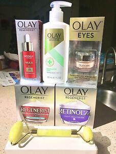 6pcs Oil of Olay anti-aging skin care set Bundle Brand New Jade Roller $149