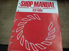 HONDA ED1000 PORTABLE GENERATOR SHOP SERVICE MANUAL 6287210 BIN 9-6