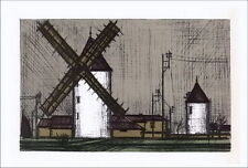 Bernard BUFFET - Lithographie : Les Moulins - Mourlot 1967