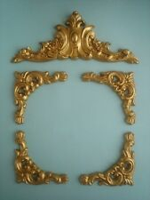 DECORATIVE SET OF ORNATE FURNITURE MOULDINGS PICTURE MIRROR ANTIQUE GOLD