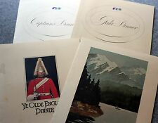 1979 SS ISLAND PRINCESS Menu Lot PRINCESS CRUISES Cruise Line SHIP Ocean WHEELER