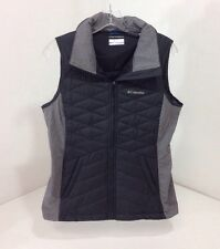 COLUMBIA MEN'S QUILTED CONTRASTING VEST CHARCOAL/HEATHER GRAY SMALL NWT