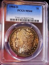Morgan Silver Dollar 1904 O PCGS MS 64++++ Monster Toned Under Grade WOW COIN PQ