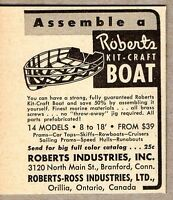 1953 Print Ad Roberts Kit Craft Boats Branford,CT