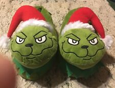 NWT MEN'S MERRY CHRISTMAS GRINCH HOLIDAY SLIPPERS SIZE U.S. 8.5-9.5