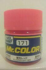 Gunze Sangyo /Mr Color C-171 Semi - Gloss, Fluorescent Red