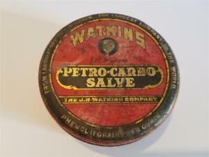 Antique TIN for Watkins Petro-Carbo Salve