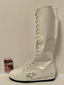 Ric Flair signed WWE wrestling boot. JSA certified