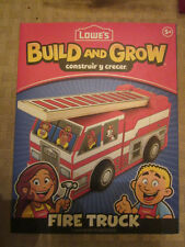 Lowes Build and Grow Fire Truck Kit  NEW in package- Build and Play
