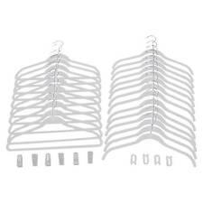 Joy Mangano 24 Pk Suit/Shirt Huggable Hangers, White