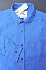 NWT Lacoste Men's Regular Fit Blue Heavy Cotton Dress Casual Shirt 3XL Eur 46
