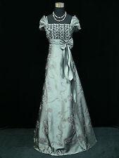 Cherlone Übergröße Grau Ballkleid Brautkleid Abendkleid Brautjungfer Kleid 48