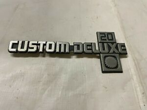 1981-1987 Square Body Truck Custom Deluxe Fender Emblem Good Mounting Points