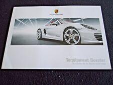 2013 2014 Porsche Boxster & S Tequipment Brochure Acc Catalog Wheels Wood PCM