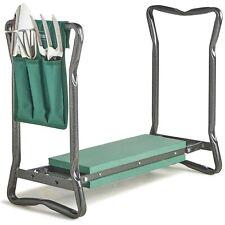 More details for vonhaus folding portable garden kneeler with 3pc tool set and bag