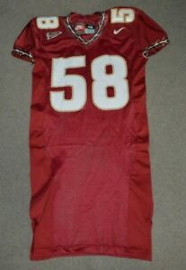 Florida State University Seminoles Team Issued Game Cut Nike Football Jersey FSU