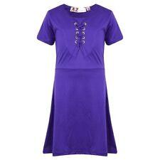 Robes violette en polyester pour fille de 2 à 16 ans