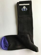 VK Nagrani Men's Luxury Socks Under Calf One Size Fits Most Ribbed Dark Brown