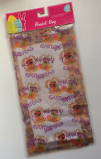 "2 Pack - Basket Bag Gift Wrap Easter Bunny Cellophane - 22"" x 25"" x 10"" - New"