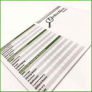 CLUEDO detective notes spare parts - 25 sheet Pad - 225 games Refill scorecard