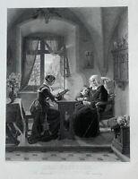 August Siegert Nikolaus Barthelmess Der Feiertag Sonntag Sunday Dimanche 1860