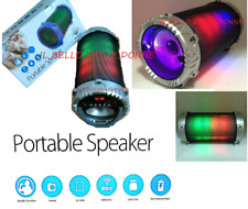 CASSA PORTATILE CON RADIO SD USB BLUETOOTH SMARTPHONE SPEAKER LED LUCE RGB