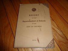 Annual Report Board of Education Chicago 1936 School History High School